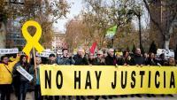 Concentració a la plaça Villa de París a Madrid