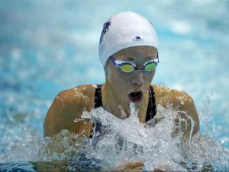 la nedadora del CN Sant Andreu, en acció durant el recent campionat d'Espanya d'hivern disputat al CN Barcelona a mitjans de novembre