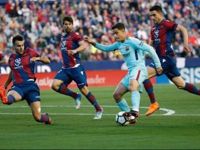 Coutinho, autor d'un 'hat-trick' en l'última visita al Ciutat de València (5-4)
