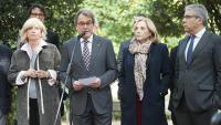 Irene Rigau, Artur Mas i Joana Ortega, en un acte a Barcelona