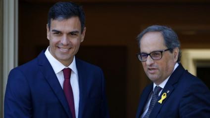 Els presidents Sánchez i Torra a la reunió del passat juliol a la Moncloa