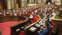 Imatge d'arxiu de l'hemicicle del Parlament durant un ple