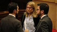 El vicepresident Aragonès, a la dreta, i Elsa Artadi al Parlament aquest dimarts
