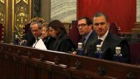El fiscal Jaime Moreno, el primer a l'esquerra
