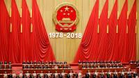 Cerimònia dels 40 anys de la reforma, ahir al Gran Palau del Poble de Pequín
