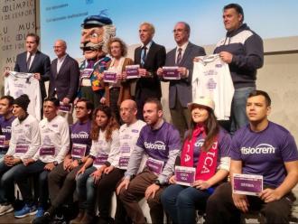 Els participants en la presentació d'ahir d ela cursa al Museu Olímpic