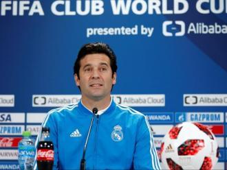 Santiago Solari, durant la roda de premsa