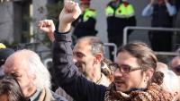 Tomàs Sayes, en una protesta a Puigcerdà