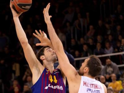 Milutinov, el gran heroi grec amb 36 de valoració, ofegant Tomic (2 punts)