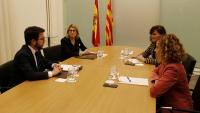 Trobada d'Aragonès i Artadi amb Calvo i Batet, el desembre passat a Barcelona