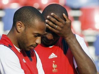 Henry i Vieira, de companys a rivals en el derbi de la Costa Blava