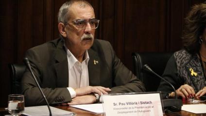 El viceconseller de la Presidència, Pau Villòria, ahir en la seva compareixença en la comissió d'investigació del 155