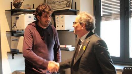 Ignasi Sabater (CUP), batlle de Verges, amb el president Torra