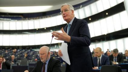 El cap negociador dels 27 sobre el Brexit aquest dimecres a l'Eurocambra