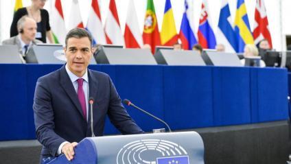 """Sánchez a l'Eurocambra: """"Davant de la retòrica de les identitats excloents, identitats que sumen, que no s'anul·len"""""""
