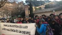 Concentracio de suport als detinguts a Girona