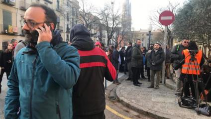 L'advocat Benet Salellas davant la comissaris de Girona