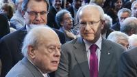 Els presidents Artur Mas, José Montilla i Jordi Pujol, en un acte el 2013