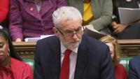 Corbyn, cap de l'oposició britànica, durant la sessió d'ahir al Parlament