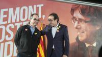 Jordi Turull i Josep Rull en un acte de campanya per a les eleccions del 21-D