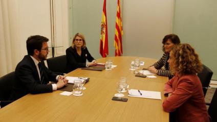 Els representants dels dos governs a la reunió del passat 20 de desembre