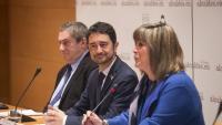Calvet, amb Núria Marín i Ramon Torra en el debat