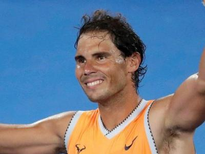 Rafael Nadal celebra la victòria contra el local Matthew Ebden
