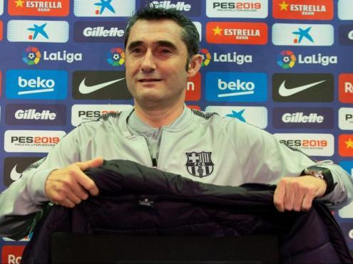Ernesto Valverde, ahir abans de l'entrenament