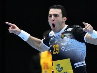Aitor Ariño , un dels destacats en el bon inici de l'equip espanyol a la segona part