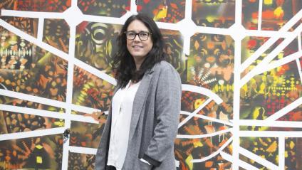 Diana Riba, al centre cultural La Farinera del Clot
