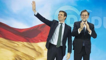 Rajoy, ahir amb Casado en la convenció del PP però sense coincidir amb Aznar, invitat avui