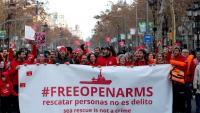 Manifestació convocada pels voluntaris d'Open Arms