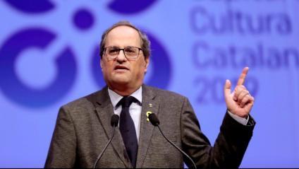 Quim Torra, president de la Generalitat, a Cervera