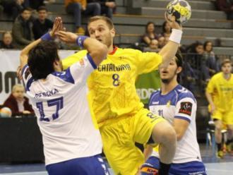 Víctor Tomàs, en el partit de la selecció del 2018