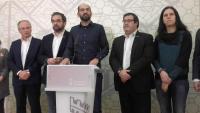Serracant ha comparegut acompanyat de diferents regidors