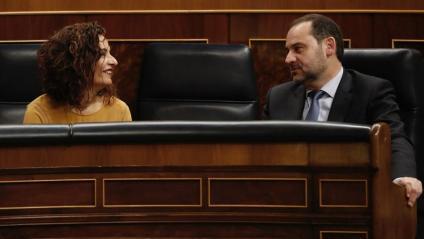 El ministre Ábalos (Foment) –amb Montero– va defensar el decret del lloguer, el primer que es perd aquest mandat