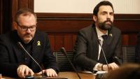 Josep Costa , vicepresident primer del Parlament, i Roger Torrent, president del Parlament, al centre de la nova polèmica entre JxCat i ERC