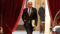Primer ple de l'any amb la compareixença del president Torra