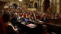 Imatge de l'hemicicle del ple del Parlament