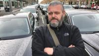 Stefano Panitti, conductor de VTC i membre del comitè de coordinació de la vaga de VTC que ocupa la Diagonal