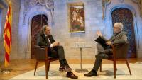 Un moment de l'entrevista, enregistrada al Palau de la Generalitat