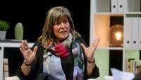 L'alcaldessa de l'Hospitalet de Llobregat, Núria Marín, en un moment de l'entrevista a El Punt Avui TV