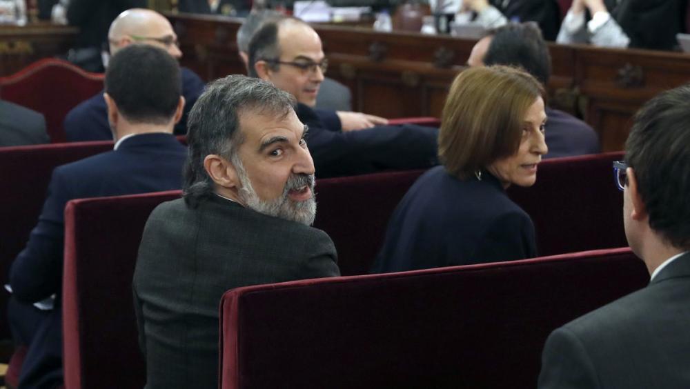 Jordi Cuixart i Carme Forcadell, al Suprem