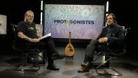 Pedro Burruezo als estudis d'El Punt Avui TV amb el periodista Xavier Castillón