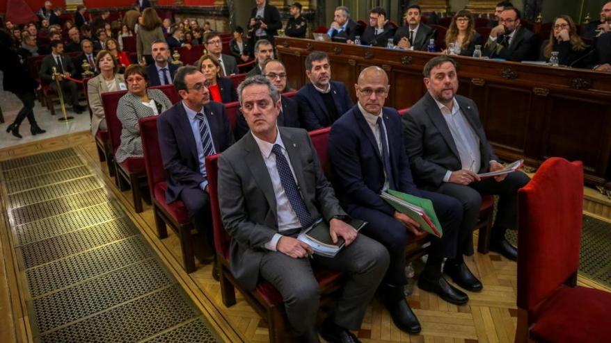 Els processats, el primer dia del judici.