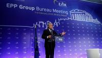 Antonio Tajani intervé en una trobada del Partit Popular Europeu celebrada a primers de febrer a Grècia