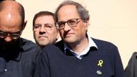 Quim Torra amb l'alcalde de Sabadell, ahir