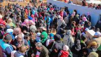 Camp de refugiats sirians a prop de la frontera siriana amb Jordània