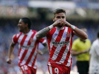 Portu , fent el seu gest habitual després de marcar l'1-2 al Bernabéu