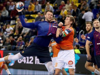 Kamil Syprzak va aprofitar els minuts de joc i va contribuir a la golejada amb sis dianes, com Aleix Gómez